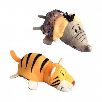 1toy вывернушка блеск с паетками 12 см слон-тигр,бирка,пакет