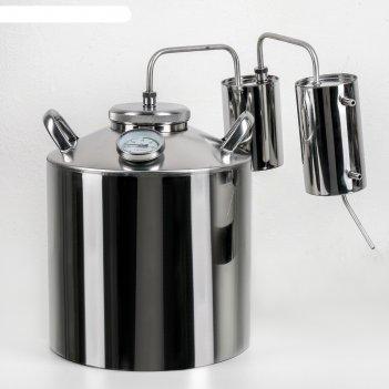 Дистиллятор 16 л разборный, горло 100 мм, термометр, клапан