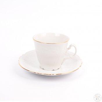Набор чайных пар ведерка bernadotte белый узор 200 мл(6 пар)