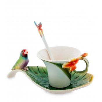 Fm-33/ 2 чайная пара попугай (pavone)