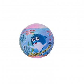 Шипучая бомбочка для ванны my little friends с растущей игрушкой, 130 г