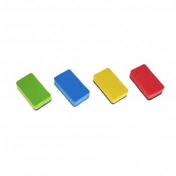 Губка магнитная для доски универсал, цвета микс