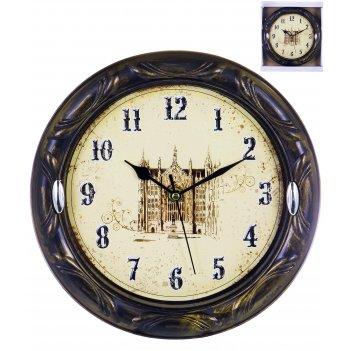 Часы настенные круглые home art «традиция замок» 24,6 см
