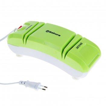 Электроножеточка sakura sa-6604gr, 120вт., 2 стадии заточки, зелен