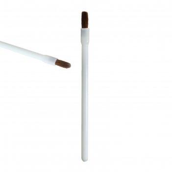 Кисть для макияжа д/нанес помады 8,5см белая пакет qf (фасовка 6 шт) цена