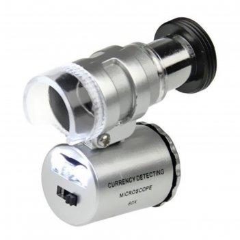 Микроскоп kromatech 60x мини, с подсветкой (2 led) и ультрафиолетом (9882)