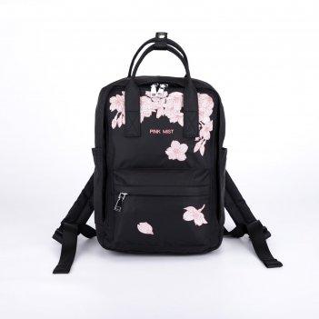 Рюкзак-сумка, отдел на молнии, 3 наружных кармана, цвет чёрный