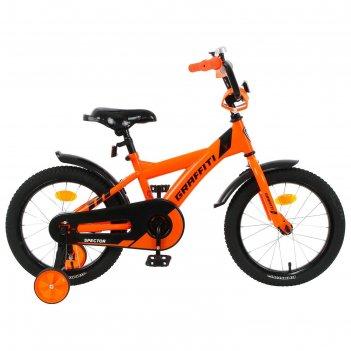 Велосипед 16 graffiti spector, цвет неоновый красный
