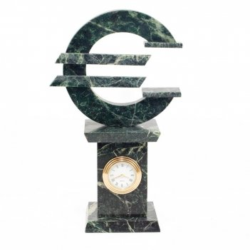 Часы евро змеевик