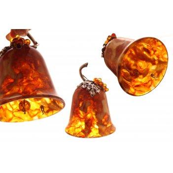 Сувенир колокольчик из янтаря
