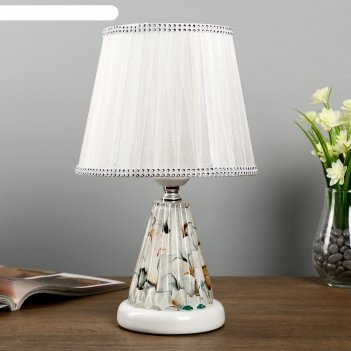 Лампа настольная с подсветкой дамона 1х40вт е27 220в белый 21х21х33 см.