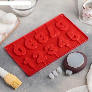 Набор для выпечки 5 предметов цифры: форма, емкость для крема, 3 насадки 2