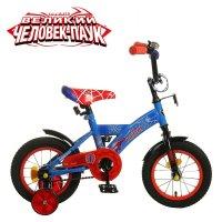 Велосипед двухколесный 12 graffiti человек паук, цвет: синий