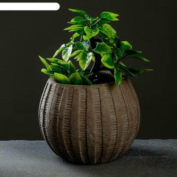 Кашпо керамическое шар коричневое 13*13*10 см