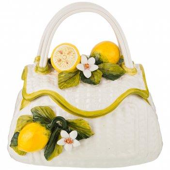 Фруктовница корзинка с крышкой лимоны 34*21 см высота 25 см
