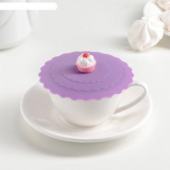 Крышка-непроливайка сладость 11 см, цвета микс