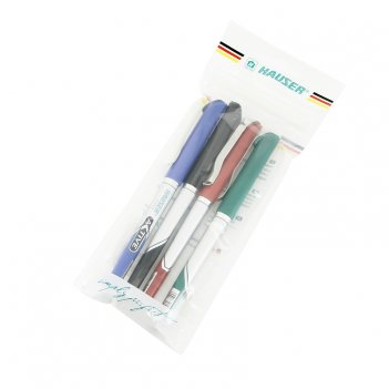 Набор: гелевая ручка (4шт/уп) hauser h6068gset