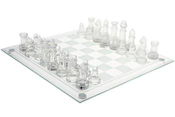 Шахматы пьяные, доска прозрачная 24х24см
