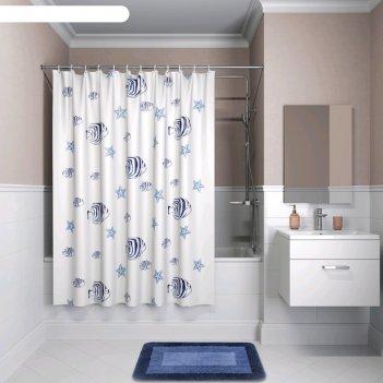 Штора для ванной комнаты iddis b47p218i11, 200x180 см, полиэстер