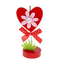 Вазитница - прищепка сердце с цветочком
