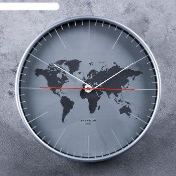Часы настенные, серия: интерьер материки, d=30.5 см