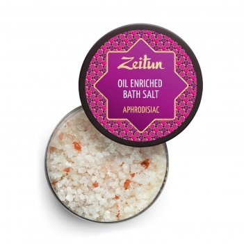 Ароматизированная cоль для ванн zeitun «афродизиак» с маслами розы, сандал