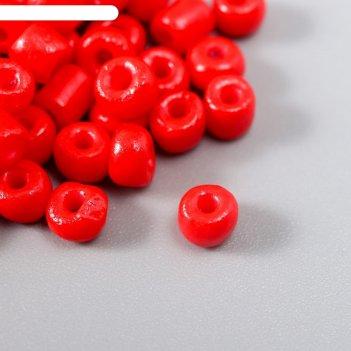 Бисер круглый 6/0 красный 20 гр