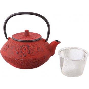 Заварочный чайник чугунный с эмалированным покрытием внутри 800 мл. (кор=8