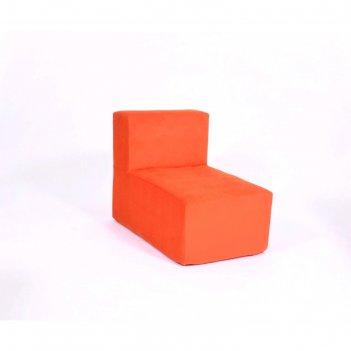 Кресло-модуль «тетрис», размер 50 x 80 см, оранжевый, велюр