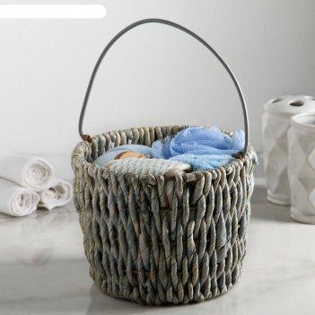Набор банный 6 предм. (расческа, зеркало, 3 мочалки, полотенце), цвет микс