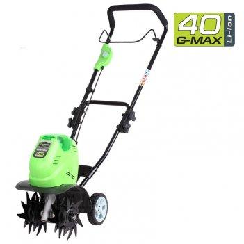 Культиватор аккумуляторный greenworks 40v g40tl, садовая техника
