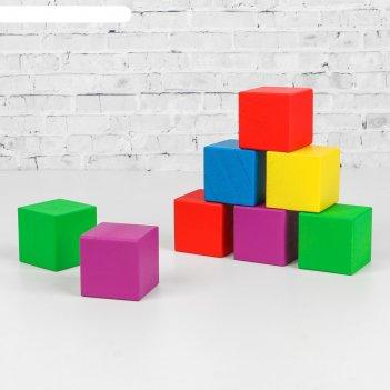 Кубики деревянные классика 12 шт (5 цв.)