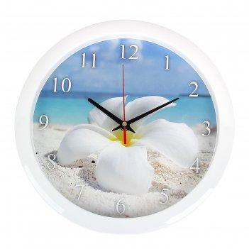 Часы настенные круглые цветок, 28х28 см