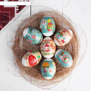 Пасхальная термоусадочная плёнка ретро на 7 яиц