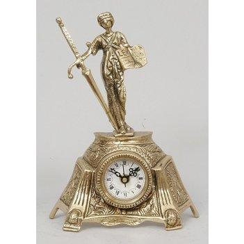 5779  бронзовые часы фемида мал. зол.24х17см