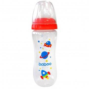 Бутылочка baboo с соской силик. (узкая)  240 мл. space, 3 мес+