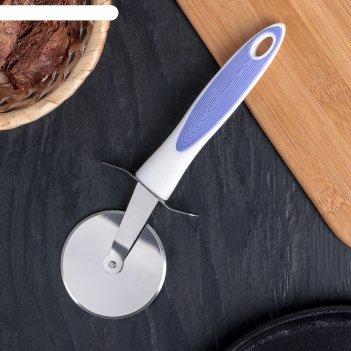 Нож для пиццы и теста 21 см style, ручка soft-touch, цвета микс
