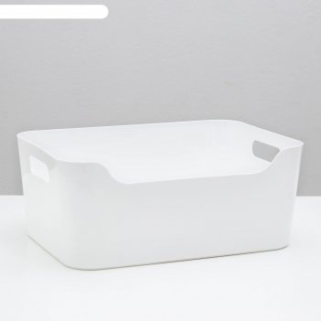 Корзина для хранения econova scandi, 10 л, 34x24x14 см, цвет белый