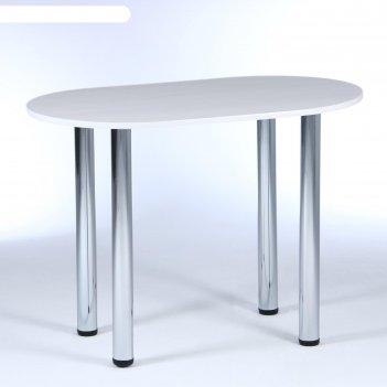 Стол обеденный овальный 600х1000, бодега светлый