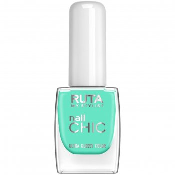 Лак для ногтей ruta nail chic, тон 55, аквамарин