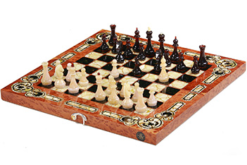 Шахматы арабески-марин  вавона, янтарь, 56х56см