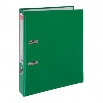 Папка-регистратор а4, 50 мм, granite, собранный, зелёный, пластиковый карм