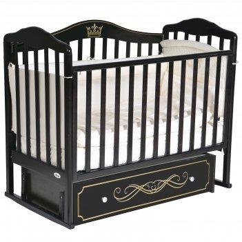 Кроватка oliver francesca elite универсальный маятник, ящик, цвет шоколад