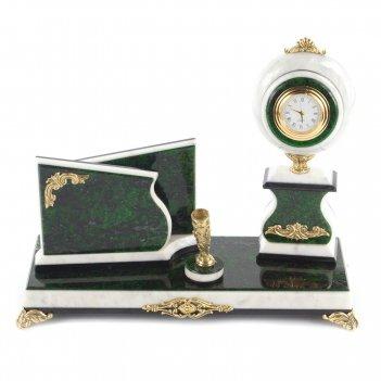 Мини-набор с шаром змеевик зеленый 260х95х205 мм 2900 гр.