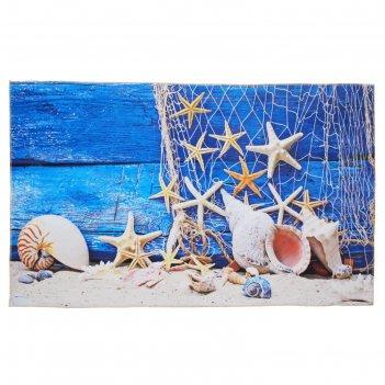 Ковер для ванной морские звезды