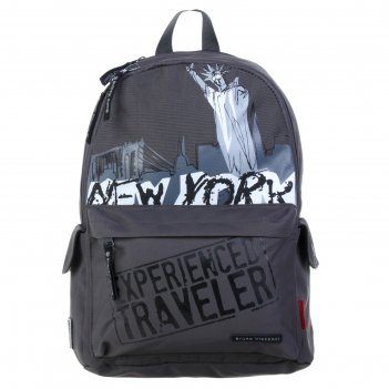 Рюкзак молодежный bruno visconti 40*30*17 нью-йорк, тёмно-серый 12-003-055
