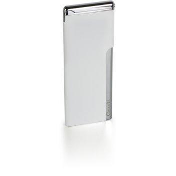 """Зажигалка """"caseti"""" газовая пьезо, хромированное покрытие + белый"""