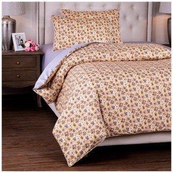 Кпб 1,5 спальный марки,серый+беж, 100% хб, сатин+сорочка