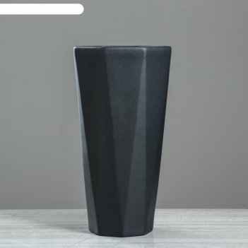 Кашпо комета 8 л, муар, черный