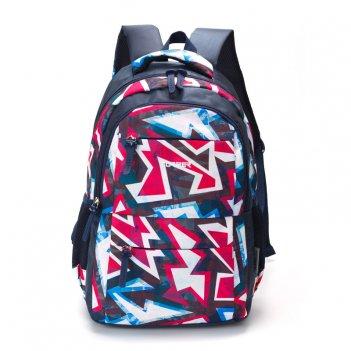 Рюкзак torber class x, темно-синий с орнаментом, полиэстер, 45 x 30 x 18 с